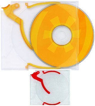 Trigger Cases for CD/DVD/BluRay - Red from Am-Dig