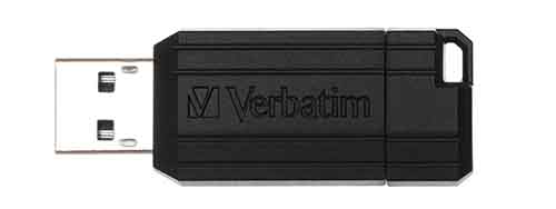 Verbatim 49061: Black PinStripe USB Flash Drive from Am-Dig