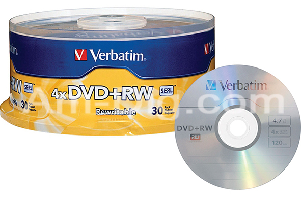 Verbatim 94834 DVD+RW 4.7GB 4x- 30pk Spindle   from Am-Dig