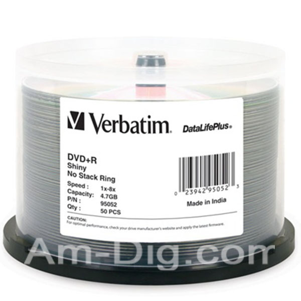 You may also be interested in the Verbatim 95032 AZO DVD+R 4.7GB 16x -10pk Spindle.