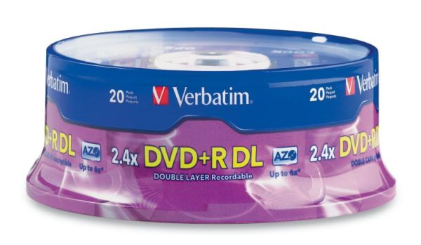 Verbatim 95310: DVD+R DL 8.5GB 8x 20 pk Spindle from Am-Dig