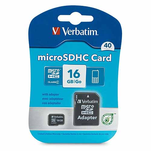 Verbatim 97180: Micro SDHC Memory Card w/ Adapter from Am-Dig