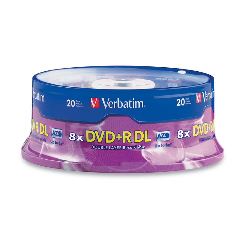 Verbatim 95310 DVD+R DL 8.5GB 8x 20 pk Spindle