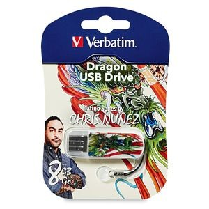 Verbatim 98663: 8GB Mini USB- Dragon Tattoo