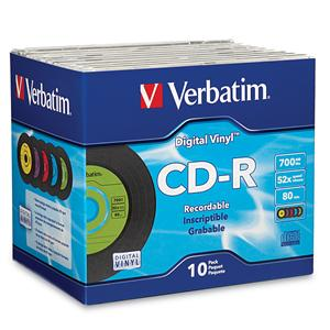 Verbatim 94439 CD-R 80min 52x Digital Vinyl 10pk