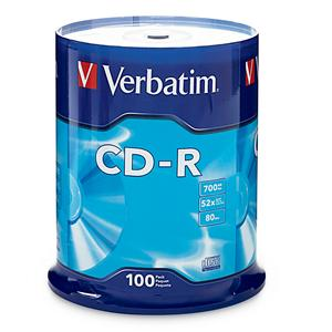 Verbatim 94554 700MB/80 min Silver Branded from Am-Dig