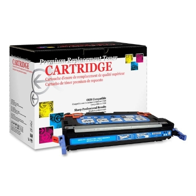 West Point 114718P Restored HP Q7581A Cyan Toner from Am-Dig