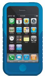 Xtrememac 01568: Blue Tuffwrap Case for iPhone 3G from Am-Dig