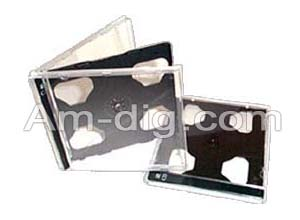 CD Jewel Case - Black Double 10mm Assembled from Am-Dig